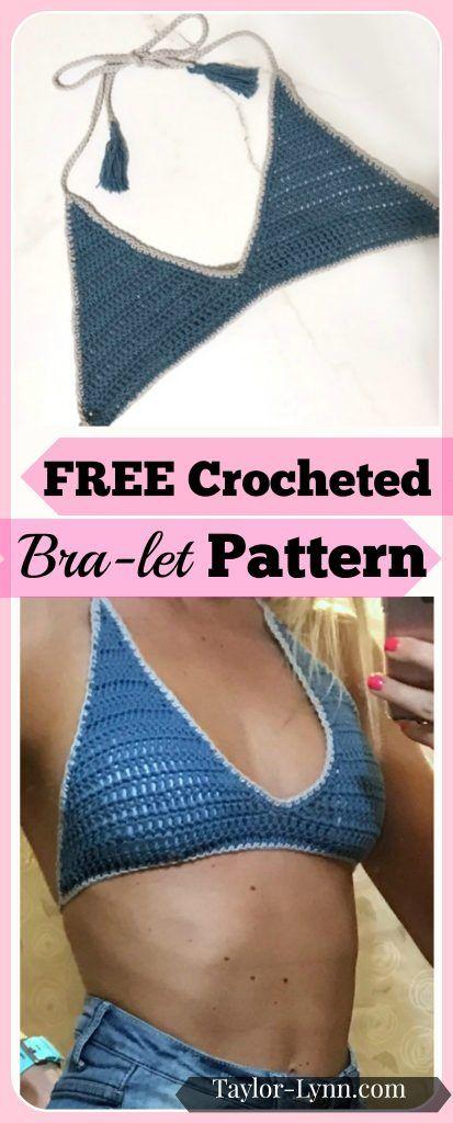 Crochet Bra Let Crochet Bralet Bra Let Bralet Crochet Pattern