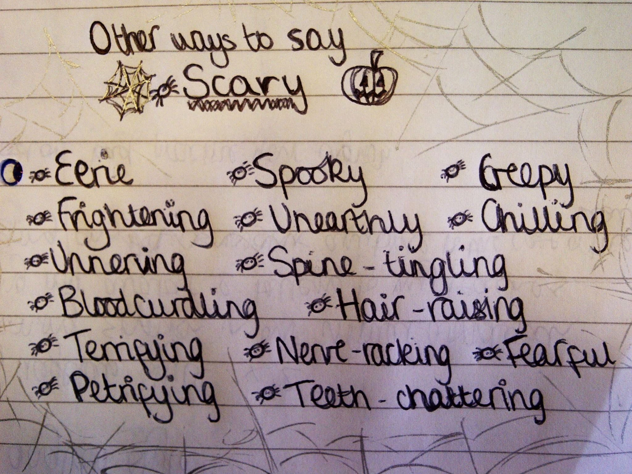 Synonyms For Scary