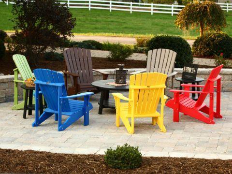 LuxCraft Deluxe Recycled Plastic Adirondack Chair | Plastic Adirondack  Chairs, Cup Holders And Products