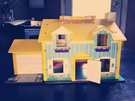 Vintage Fisher Price Little People Doll House 1969 No 952 Blue And