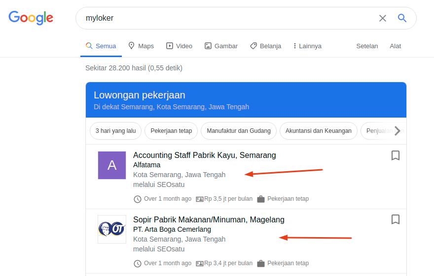 Pasang Iklan Premium Tayang Di Google Jobs My Loker Periklanan Blog Google