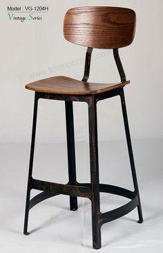 Triomf yardbird teller kruk, hoge eetkamer kruk stoel metalen ...