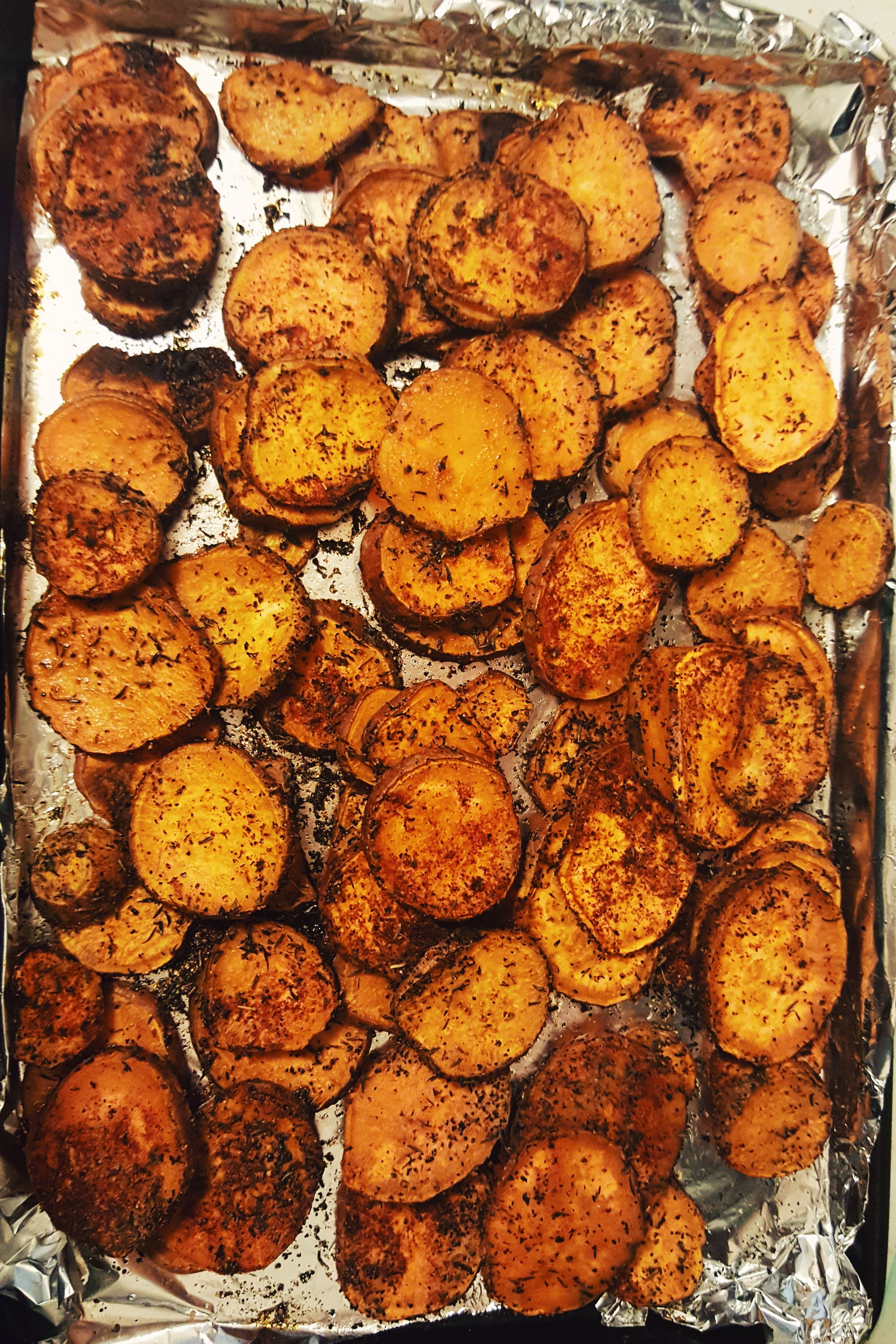 I Love Sweet Potato S Especially When They Are Made On The Savory Side These Sweet Potato Medallions Are A Roasted Sweet Potatoes Sweet Potato Recipes Recipes