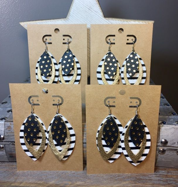 Image Result For Stripped Leather Earrings Leather