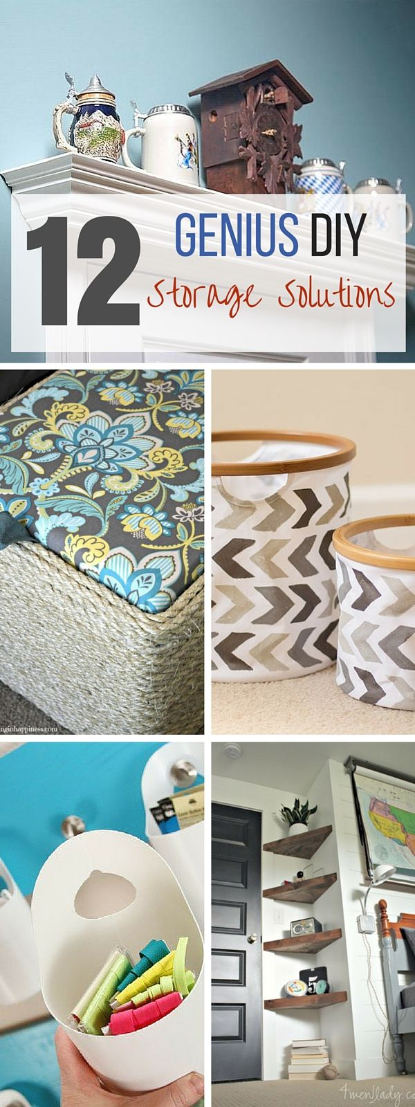 I would actually use all these ideas, wow what a great list! :-D #DIY your way to more storage at #home!