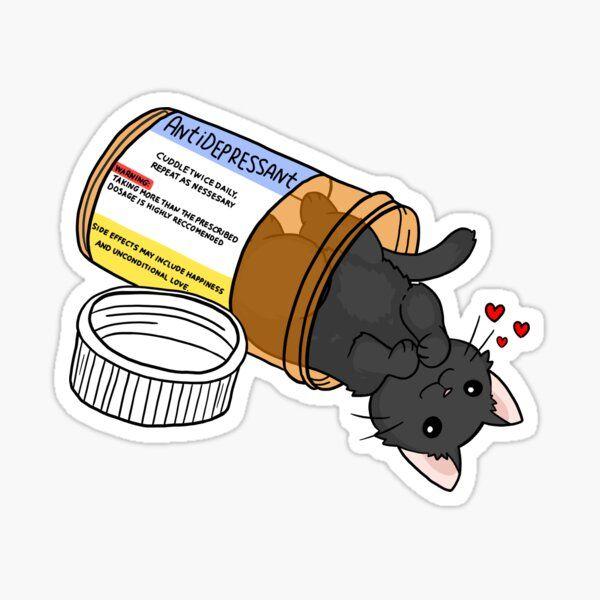 kitty antidepressant love medicine Sticker