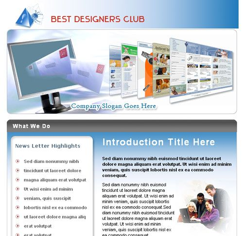 ReadyToUse Email Newsletter Templates  Internet Marketing