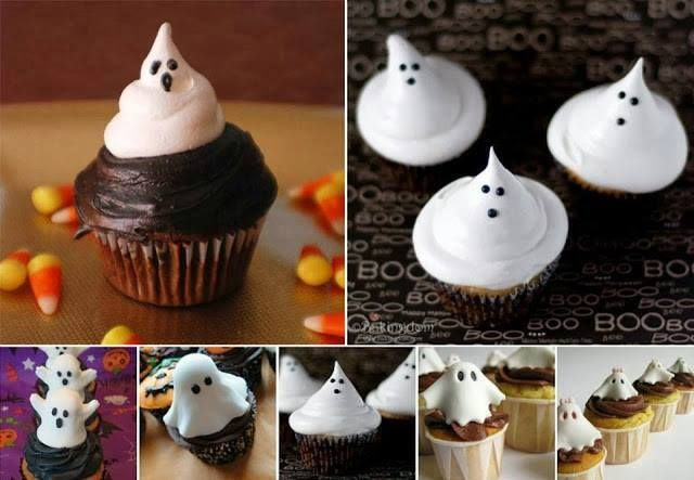 #Ghost #cupcakes for #Halloween