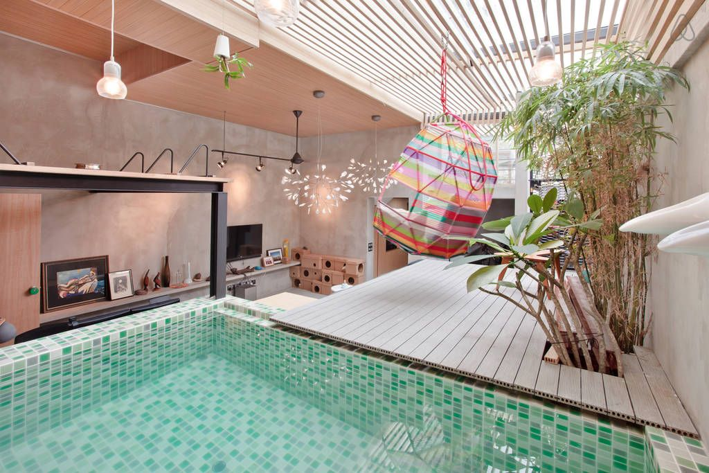 living room with a pool a stylish tiong bahru flat singapore