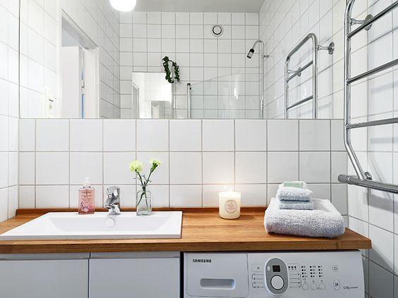 Lavadora bajo encimera lavabo casa pinterest lavabo for Lavadero para bano