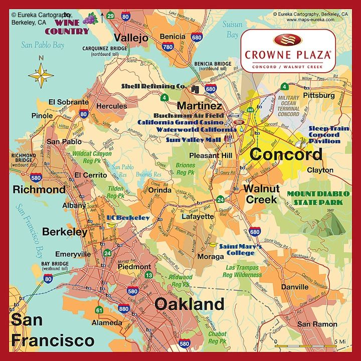 Hotel Map ~10 mile radius © Eureka Cartography, Berkeley, CA ... on