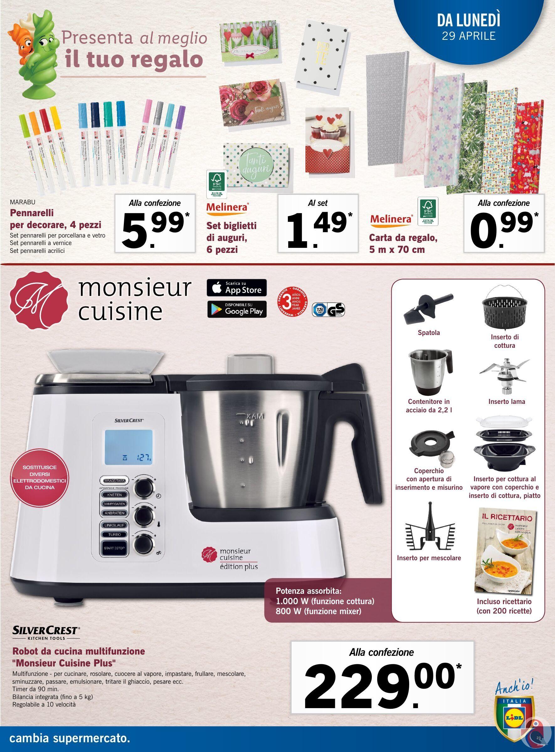 Monsieur Cuisine Plus Nel Nuovo Volantino Lidl Di Maggio 2019 Lidl Volantini Robot Da Cucina