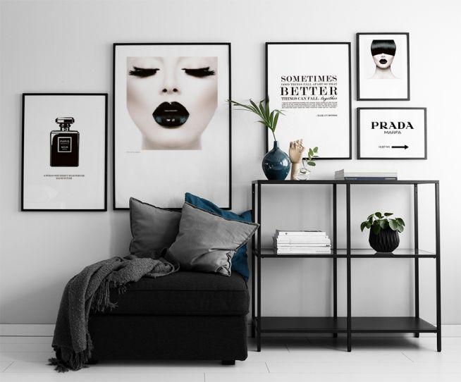 Poster Ideen prada poster bilderleiste bilderwand einrichtung