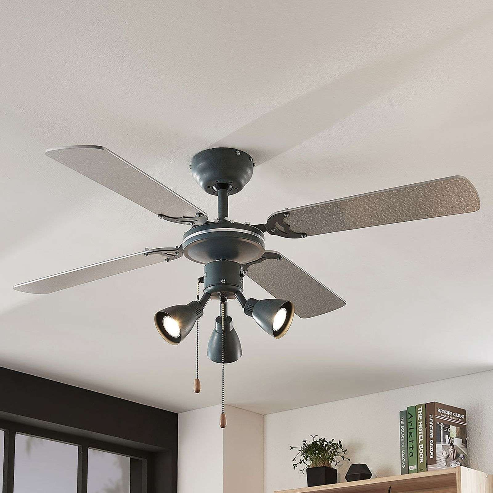 Deckenventilatoren Mit Beleuchtung Von Lampenwelt Com Grau Deckenventilator Ventilator Mit Licht Und Ventilator