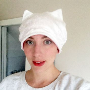 White Cat Hat by Liz Kelly Zook | $18 with shipping