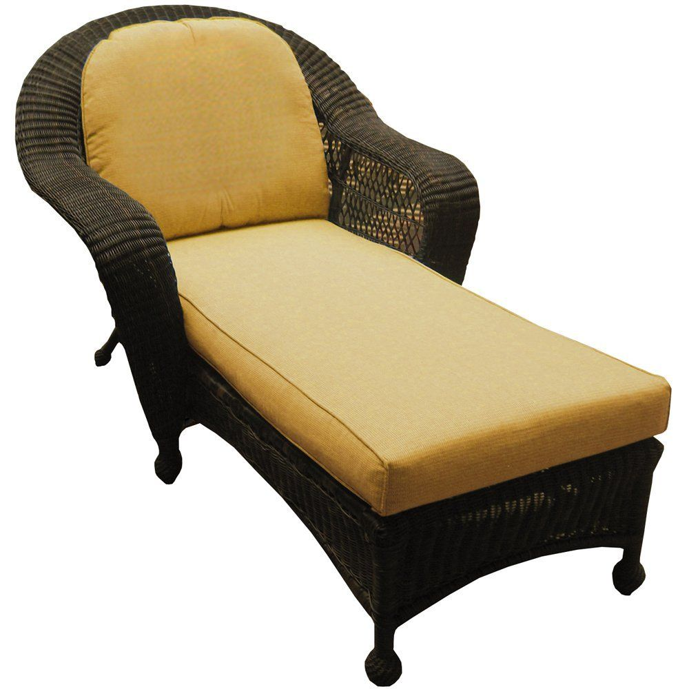 Amazon Com Northcape Port Royal Wicker Chaise Lounge