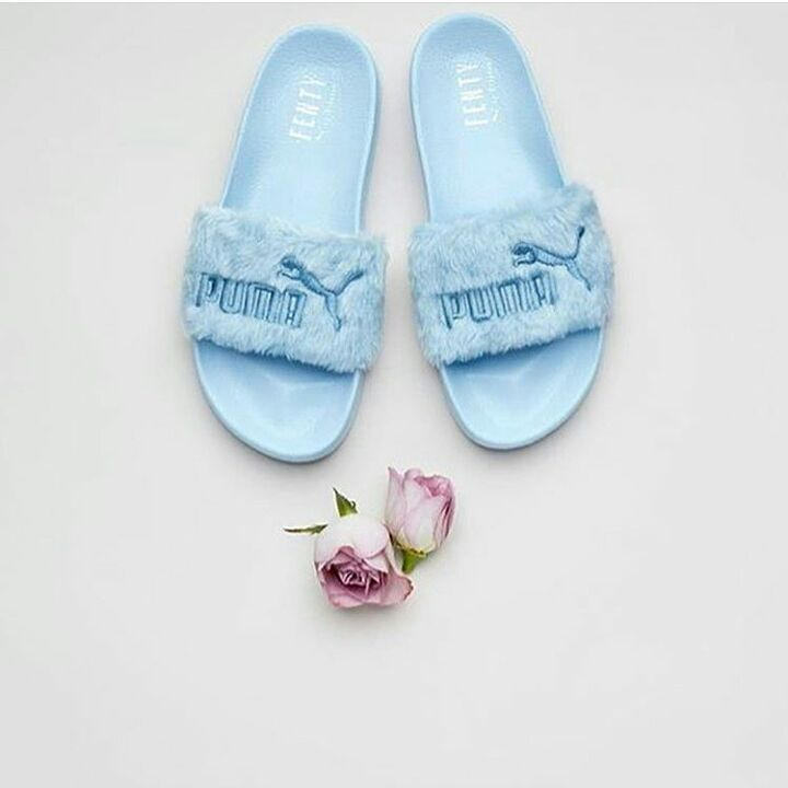 pumashoes$29 on | fashion trends | Puma fenty fur slides