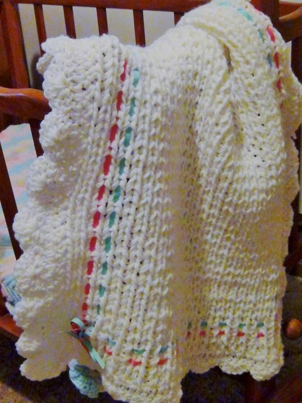 How To Loom Knit A Baby Blanket Knifty Knitter Baby Pinterest