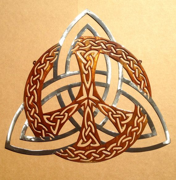 Celtic Trinity Knot Peace Sign Wall Art  by RustyRoosterMetal, $125.69...this would make a great behind the ear tat....