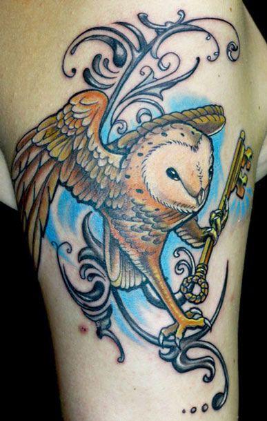 Owl Tattoo By Todo Brennan Bird Tattoos Pinterest Tatouage