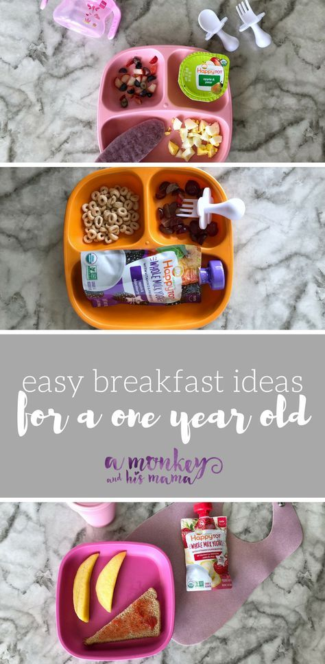 Easy Breakfast Ideas for a One Year Old {& a Preschooler images