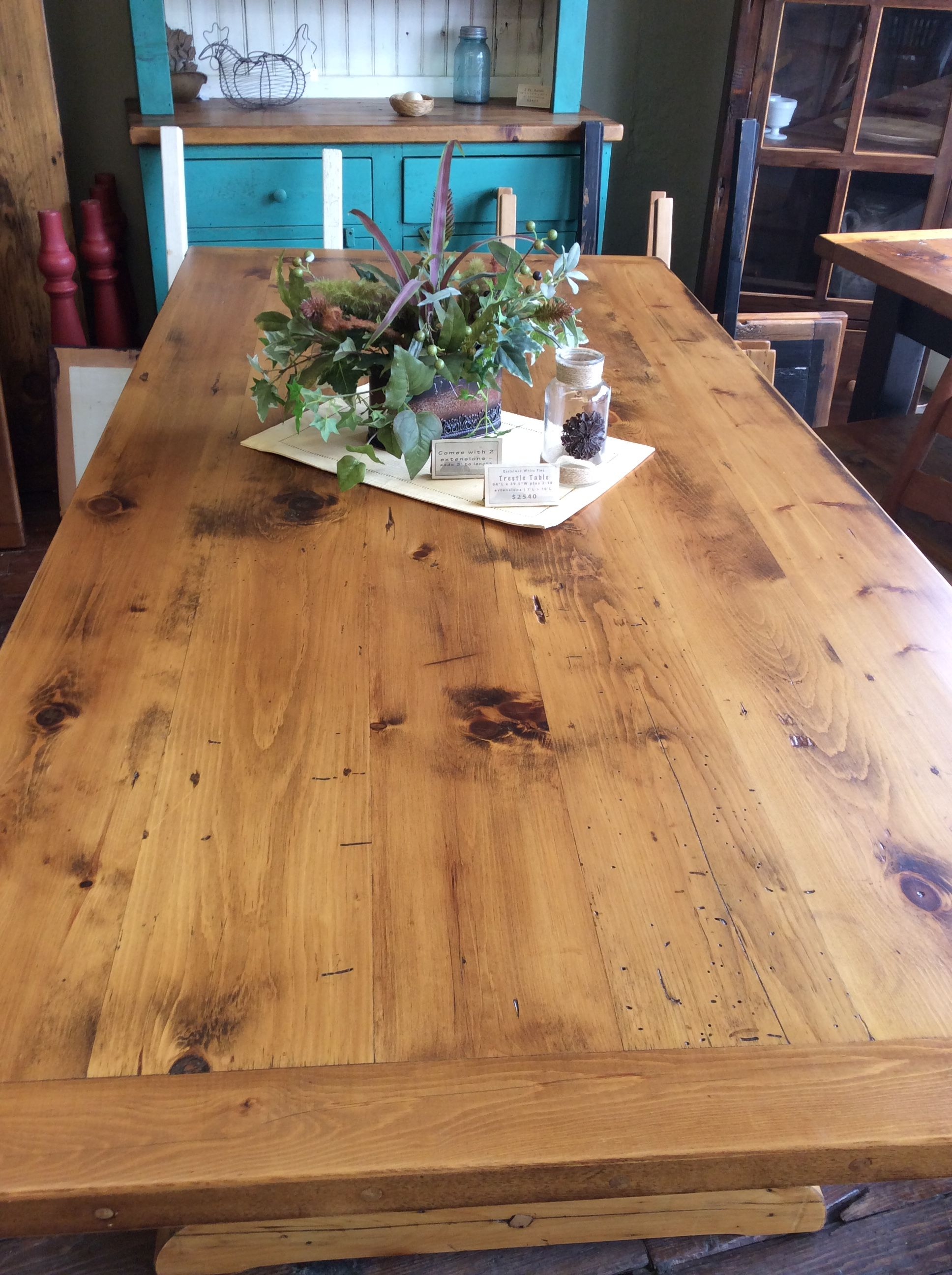 Fine Reclaimed Low To Medium Character White Pine Barn Wood Table Home Interior And Landscaping Ologienasavecom
