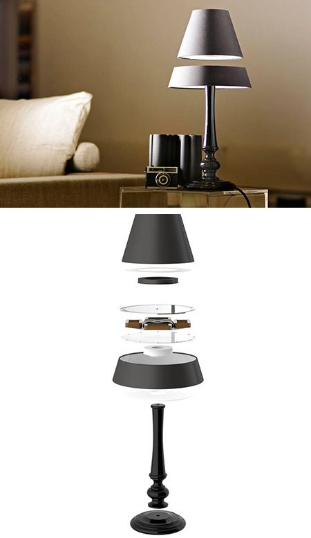 Ultra Cool Floating Table Lamp Isn T An Optical Illusion Just Science Floating Table Lamp Table Lamp