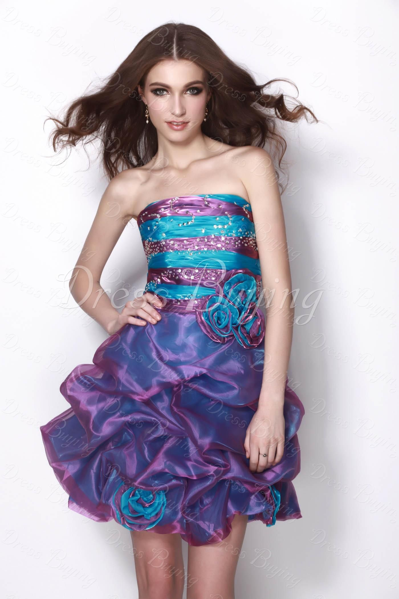 Fairytale Purple & Blue Gathered Natilie\'s Homecoming/Sweet Sixteen ...