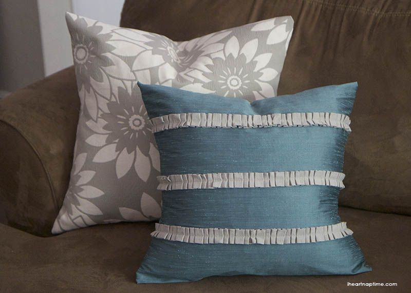 Diy Pillows With Pleated Trim Pillows Diy Pillows