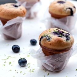 Vanilla Blueberry Muffin {gluten free} - a guilt-free alternative, eat as many as you want. #foodgawker