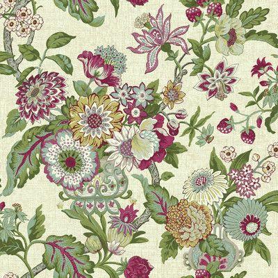 Waverly Modern Purple Floral on Beige WALLPAPER BORDER