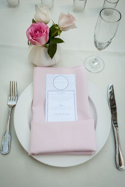 pink napkin and table setting & pink napkin and table setting | Table settings | Pinterest | Lake ...