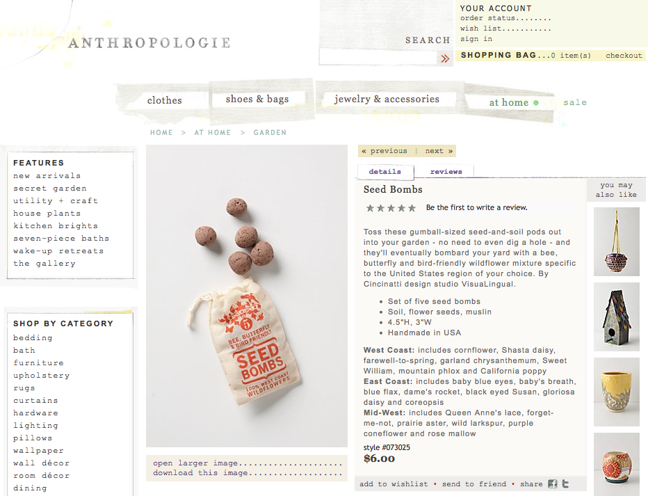 VisuaLingual Seed Bombs at Anthropologie | Seed bombs ...