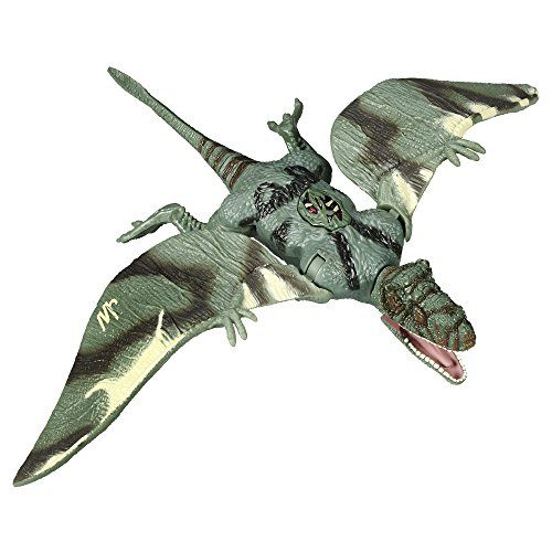 Jurassic World Dimorphodon Action Figure - [gallery] Dimorphodon is a soaring, screeching dino with a savage airborne attack, and this awesome figure looks just like one. He's ready to team up with his fellow dinos (other figures sold separately) to hunt the ultimate predator. He'll ride his flapping wings to the fight and descend fast for a chomping dino attack that will destroy anything in his way. Let the hunt begin with your Dimorphodon figure. Hasbro and all related term