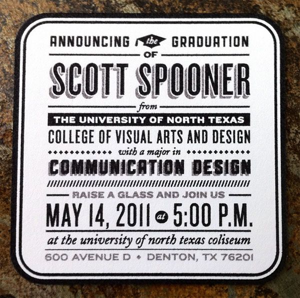 scott spooner graduation announcements communication design unt