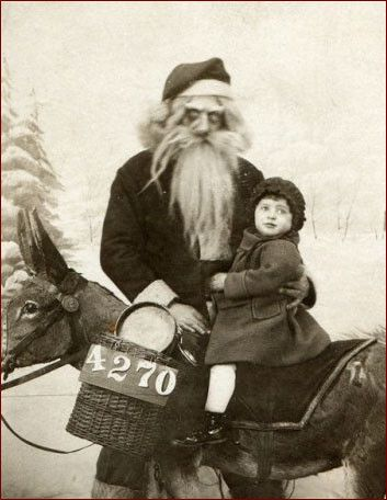 Okay, It's Santa.... But should be Halloween with the creepy factor