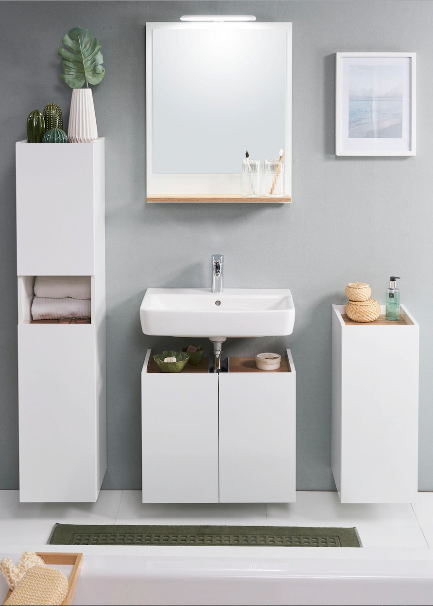 Hochschrank 50 188 5 20 Cm Badezimmer Unterschrank Unterschrank Bad Und Unterschrank Waschbecken