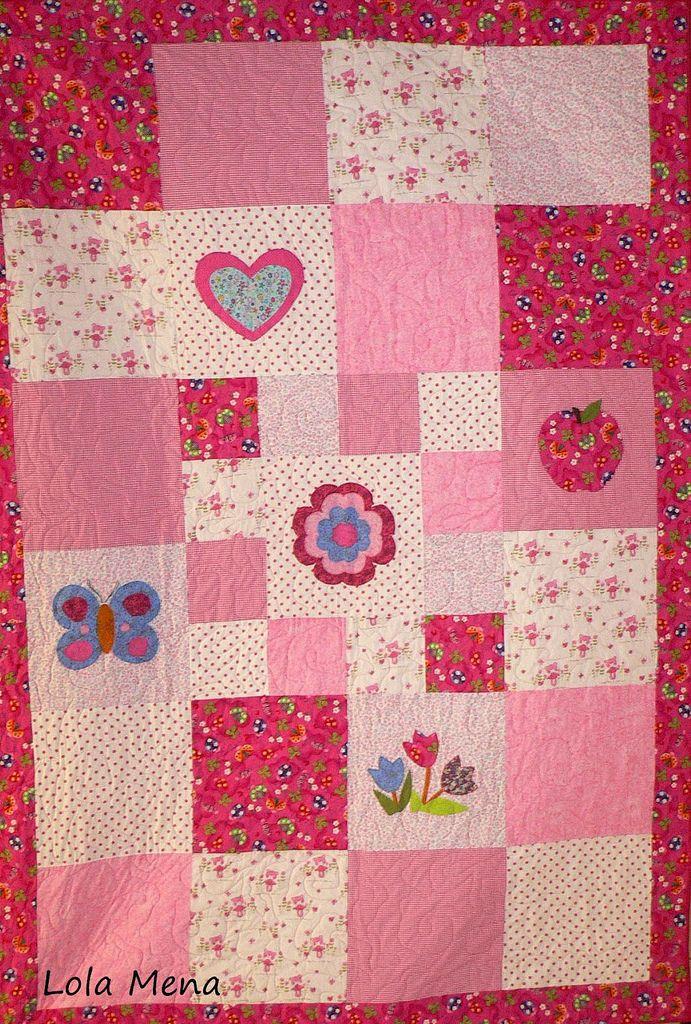 Menudos remolinos colcha de patchwork para ni a bebe - Colchas patchwork infantiles ...