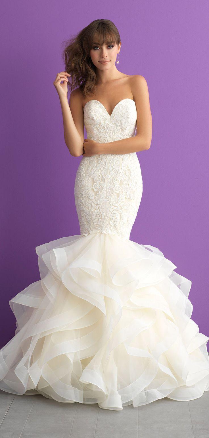 Lace wedding dresses 2018 Allure 3008 | Beach wedding | Pinterest ...