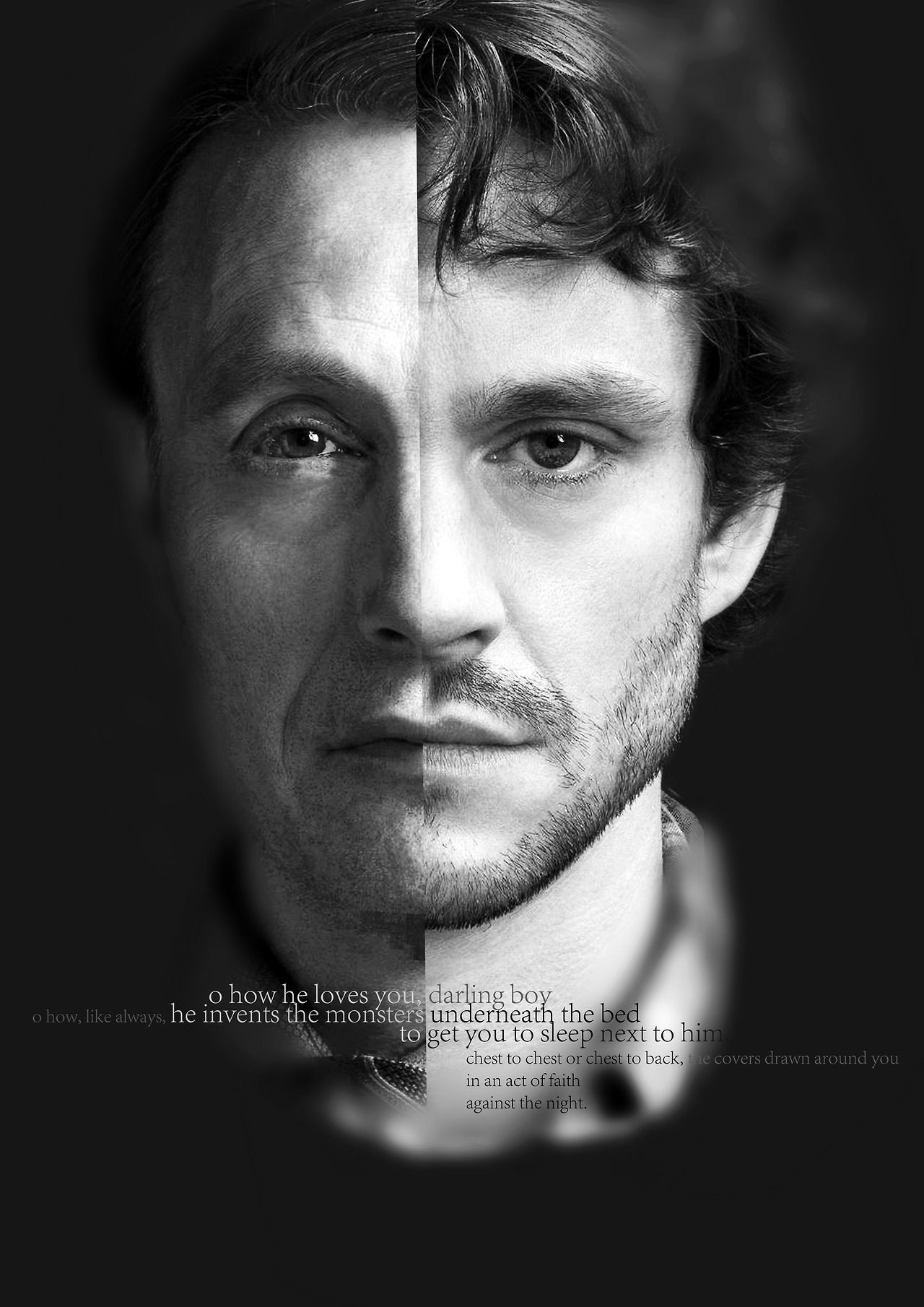 Hannibal has always been searching for the ultimate way of being. When he met Will, he found the answer. He desires the existence of Will and disgust his own. Therefore, he switched them, artistically and beautifully.