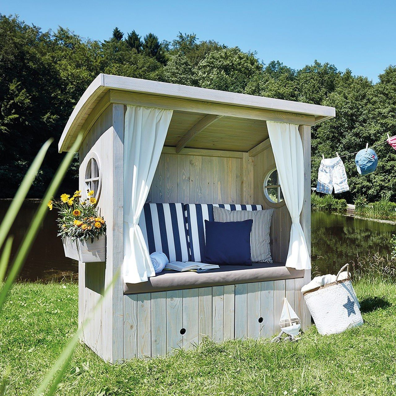 alpenh tte h ttenzauber statt strandkorb garten pinterest garten garten ideen und garten deko. Black Bedroom Furniture Sets. Home Design Ideas