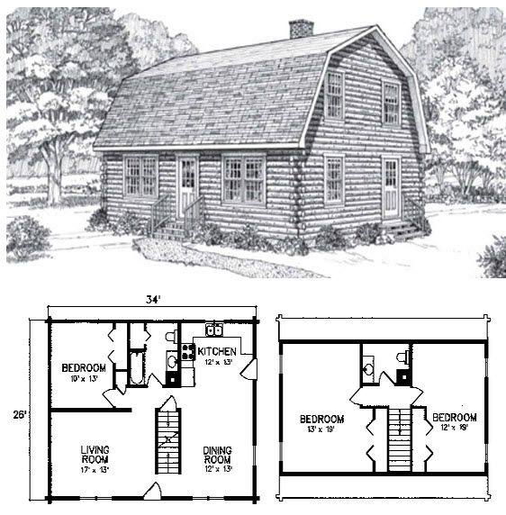 Bigelow Gambrel Roof House Plan With Loft Gambrel Style