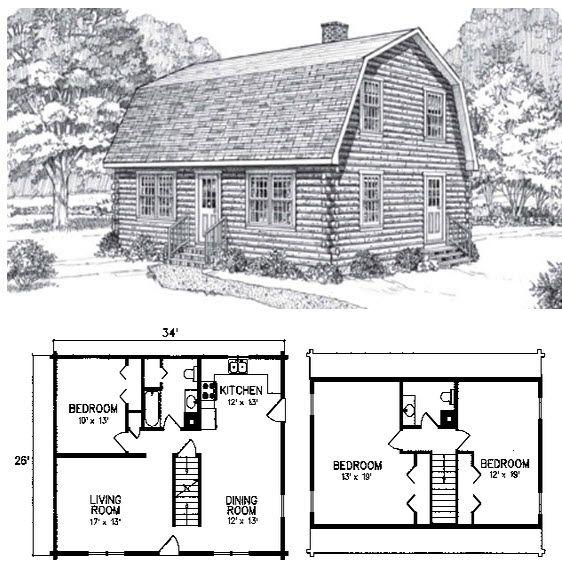 3 Bed 1 5 Bath 2 Levels 1564 Sq Ft A Classic Gambrel Roof Design And A Spacious Comfortable Interior Combi Sims House Plans Gambrel Roof House Plan With Loft