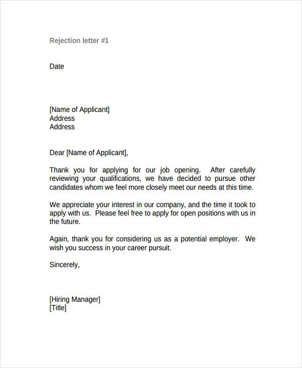 Letter After Job Rejection from i.pinimg.com