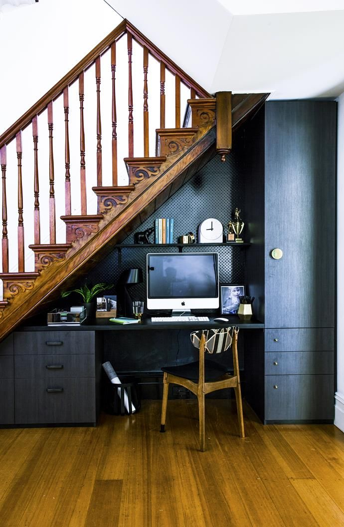 Basement Study Room: Room Update: A Study Nook Under The Stairs
