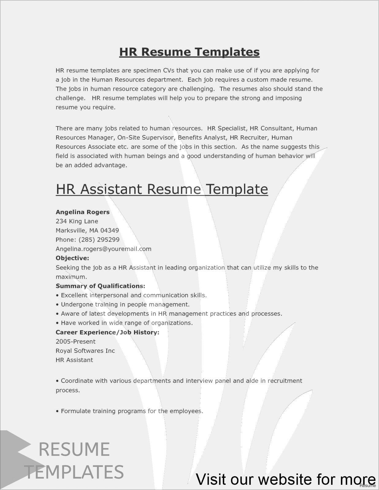 Easy Resume Template Free Simple Resume Template Basic Resume Examples Job Resume Template