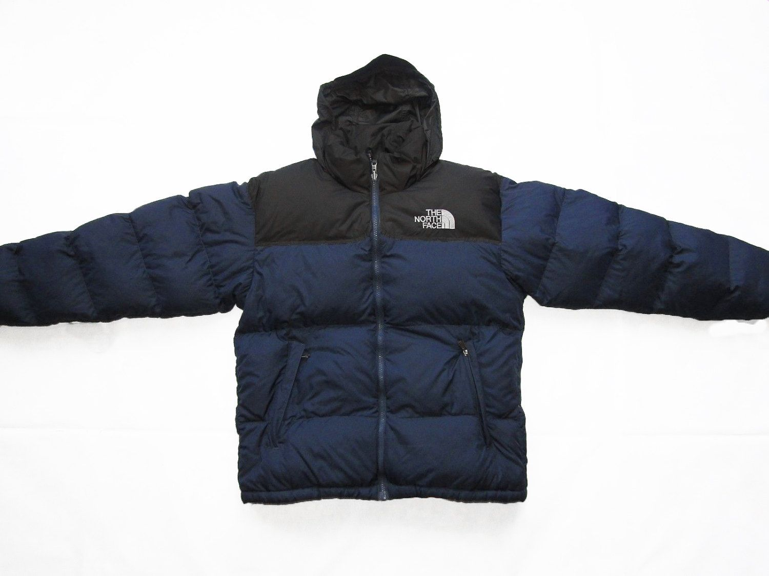 ddbaedf10 The North Face Men's Down Nuptse Puffa Puffer Jacket Blue/Black Size ...