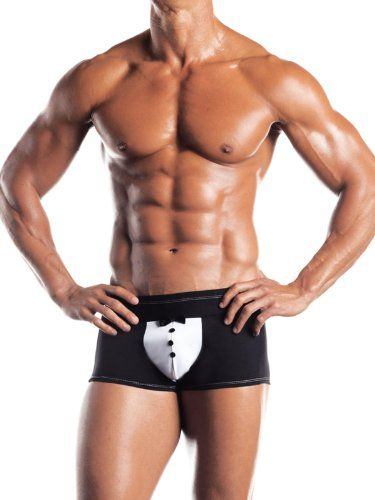 Mens Tuxedo Brief Black Bowtie On Detail Underwear Wedding Groom Special Occasion