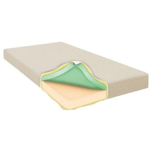 Night Therapy 6'' Memory Foam Mattress - Twin Tan Top layer of 2 of heat sensitive memory foam. Base layer of 4 breathable HD foam gives underlying support for durability and assists with less heat build up on the mattress. Twin mattress dimensions: 39 x 75 x 6.  #Night_Therapy #Home