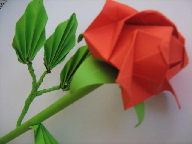 origami kawaski rose